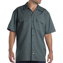 Dickies lincoln green short sleeve twill shirt 1574
