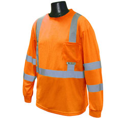 Radians Orange LS HiViz Tee ST213PO